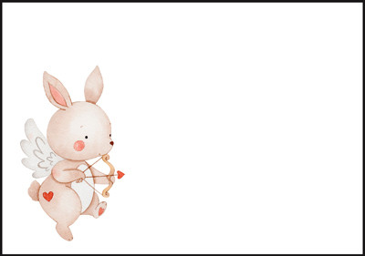 Bunny - envelope (C6) #2