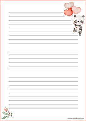 Panda - kirjepaperit (A4, 10s) #2