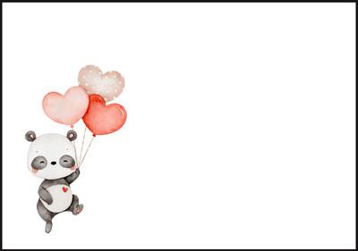 Panda - envelope (C6) #1