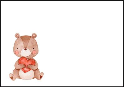 Teddy bear - envelope (C6) #1