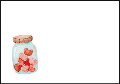 Heart jar - envelope (C6) #1