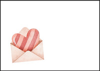 Heart envelope - envelope (C6) #1