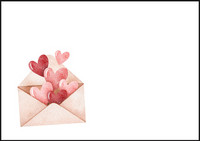 Heart envelope - envelope (C6) #2