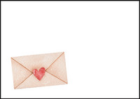 Heart envelope - envelope (C6) #3