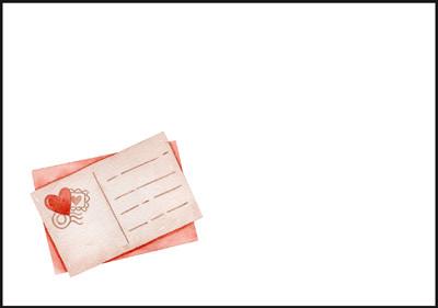 Heart postcard - envelope (C6) #1