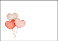Heart balloons - envelope (C6) #1