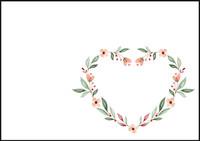 Sydänkukka - kirjekuori (C6) #2