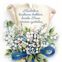 Please hear the whisper of flowers (14x14cm)