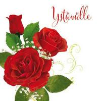 Ystävälle - ruusut (14x14cm)