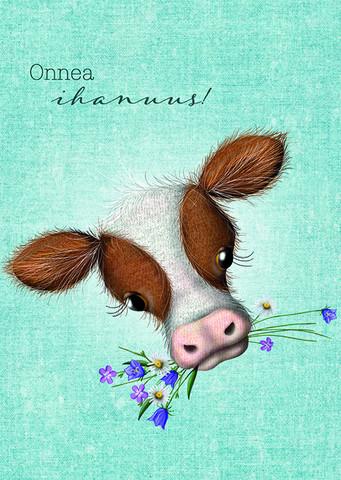 Onnea ihanuus - lehmä