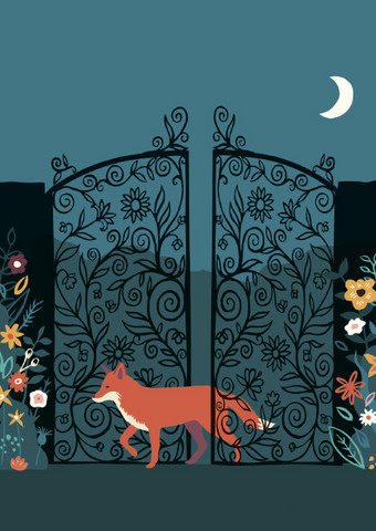 Fox and the moon