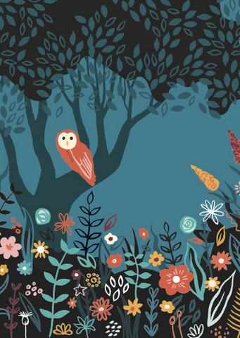 Pöllö ja kukkaset