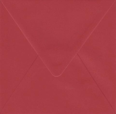 Yksivärinen neliökirjekuori 14.4x14.4cm - tummanpunainen