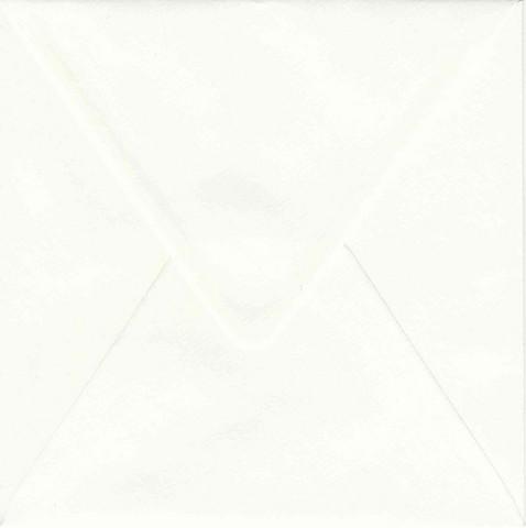Yksivärinen neliökirjekuori 14.4x14.4cm - valkoinen