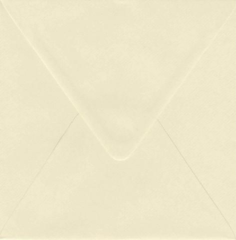 Solid color square envelope 14.4x14.4cm - creamy white