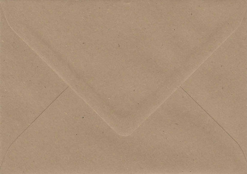 Solid color small envelope 10x14cm - brown