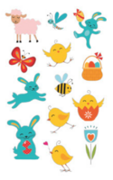 Easter stickers - animals (3 sheets)