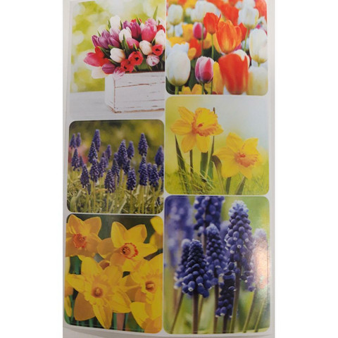 Easter stickers - spring flowers (3 sheets) #1