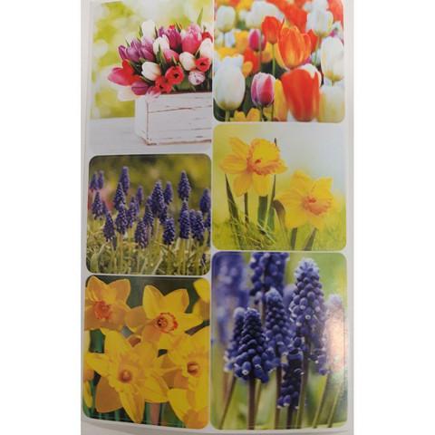 Pääsiäistarrat - kevätkukat (3 arkkia) #1