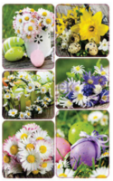 Easter stickers - spring flowers (3 sheets) #2