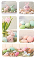 Easter stickers - Easter decorations (3 sheets)