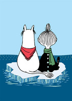 Glitter Moomin - Sitting on an ice board