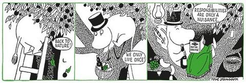 Muumi-panoraama sarjakuva #1