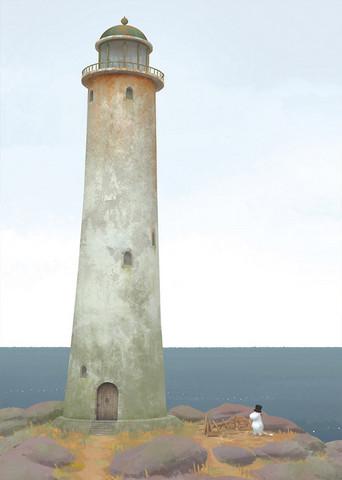 Lighthouse and Moomin Papa