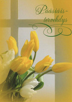 Easter greetings - tulips