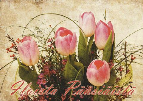 Happy Easter - tulip bouquet