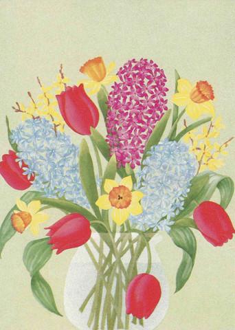 Kevätkukkia maljakossa