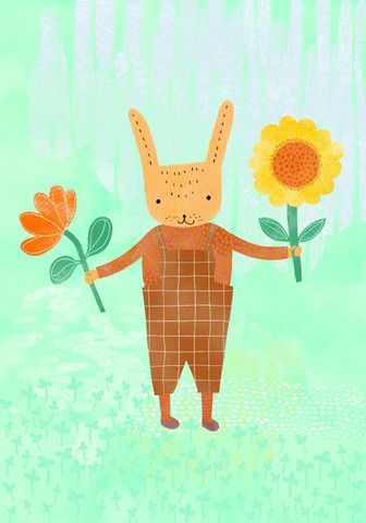Tuuliamoods - Bunny with flowers