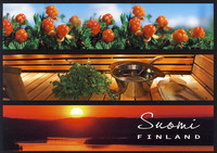 Suomi-Finland - cloudberry, sauna and sunset