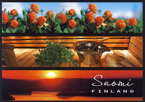 Suomi-Finland - cloudberry, sauna and sunset
