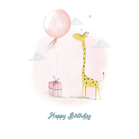 Happy Birthday - giraffe