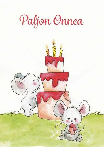 Paljon onnea - hiiret ja kakku