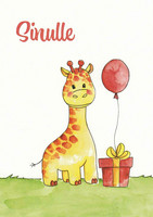 For you - giraffe and present