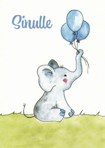 For you - elephant and balloons