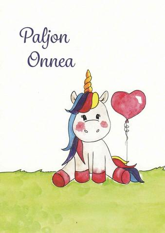Congratulations - unicorn and balloon