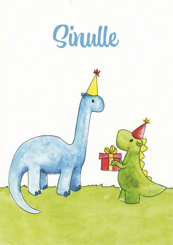 For you - dinosaurs and present