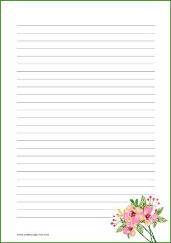Kukat - kirjepaperit (A4, 10s) #12