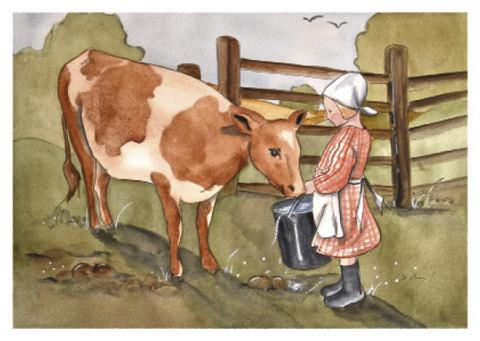 Maarit Ailio - Tyttö ja lehmä