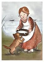 Maarit Ailio - GIrl and cat
