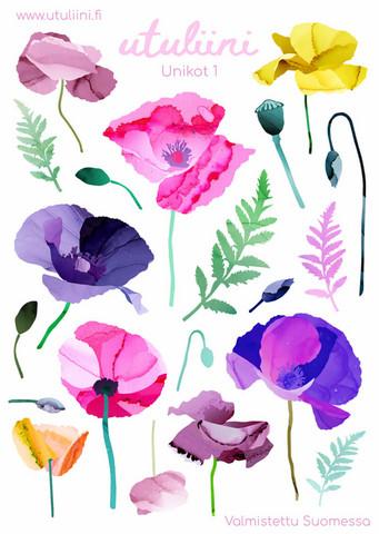 Utuliini - Poppies #1 (sticker sheet)