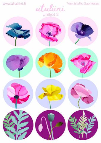 Utuliini - Poppies #3 (sticker sheet)