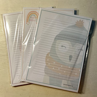 Second quality paper set (A5, lined, about 50 pages)