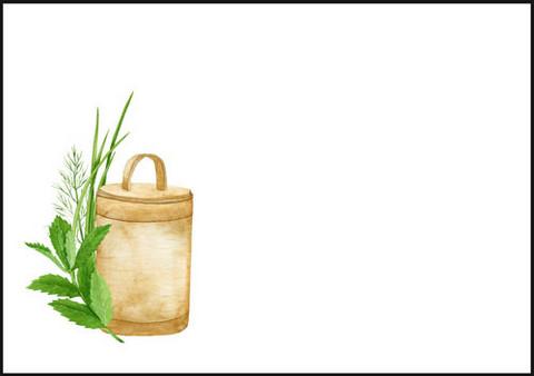 Purkki ja kasvit - kirjekuori (C6) #1