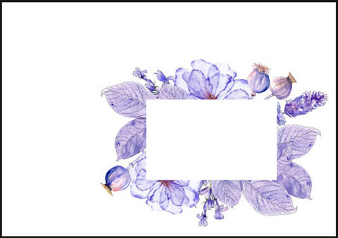 Purple flowers - envelope (C6) #1