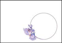Purple flowers - envelope (C6) #2