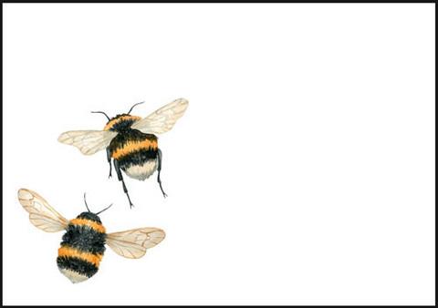Bumblebees - envelope (C6) #1